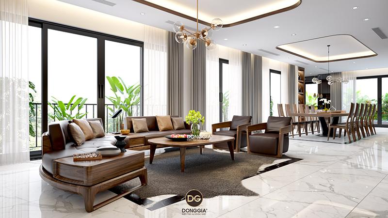 20 ý tưởng thiết kế nội thất phòng khách biệt thự sáng tạo 2020