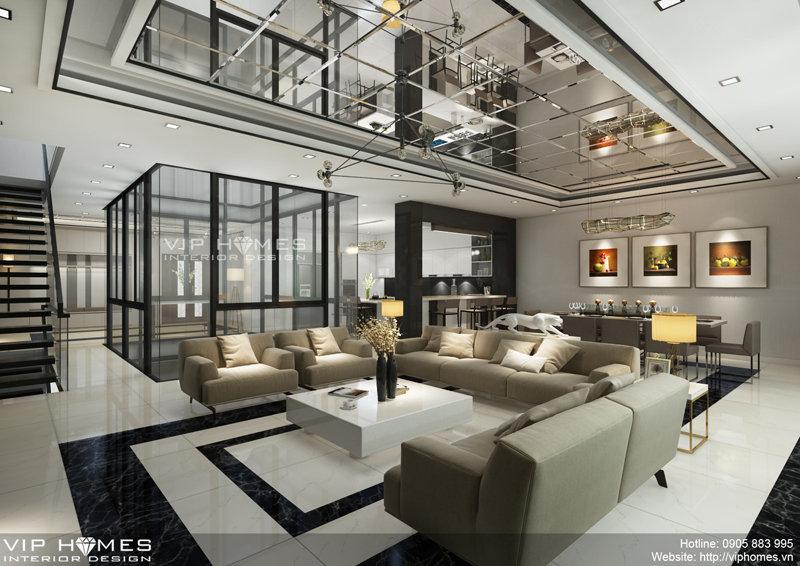 Thiết kế nội thất biệt thự theo phong cách hiện đại