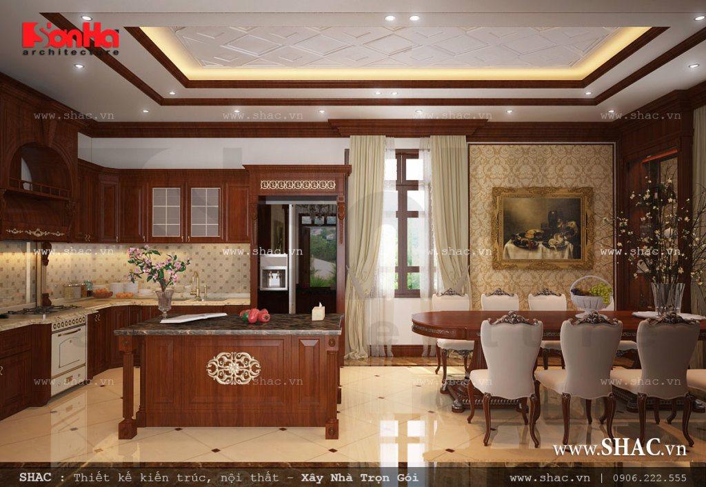 Thiết kế nội thất biệt thự cổ điển mang phong cách châu Âu đẹp mắt
