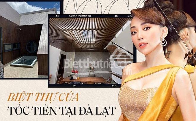 Mọi ngóc ngách trong biệt thự mới của Tóc Tiên tại Đà Lạt: Thiết kế hiện đại sang trọng, 90% đều bằng gỗ