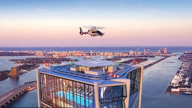 David Beckham chi 20 triệu đô vào căn Penthouse đẹp ngất ngây có bãi đỗ trực thăng tại Miami